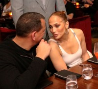 Jennifer Lopez and Alex Rodriguez Get Cozy While Celebrating Friend's Birthday