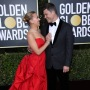 Scarlett Johansson and Colin Jost Kiss at the Golden Globes 2020