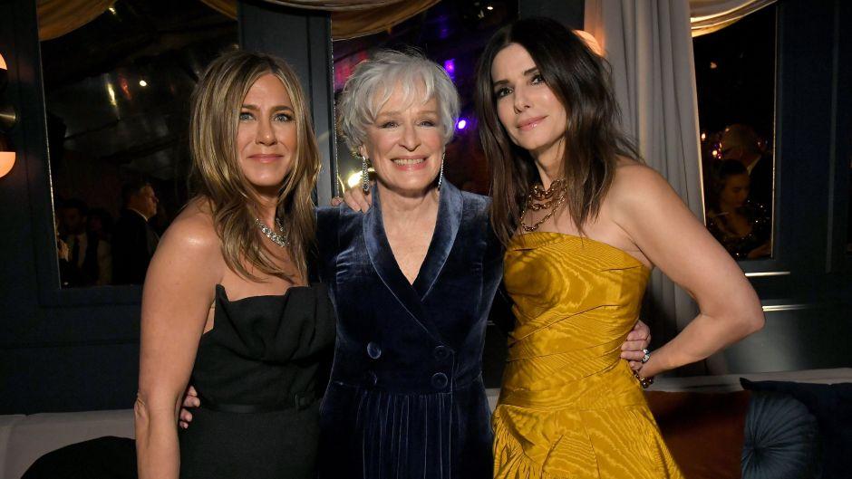 Sandra Bullock, Jennifer Aniston and Glenn Close Golden Globes Afterparty Netflix