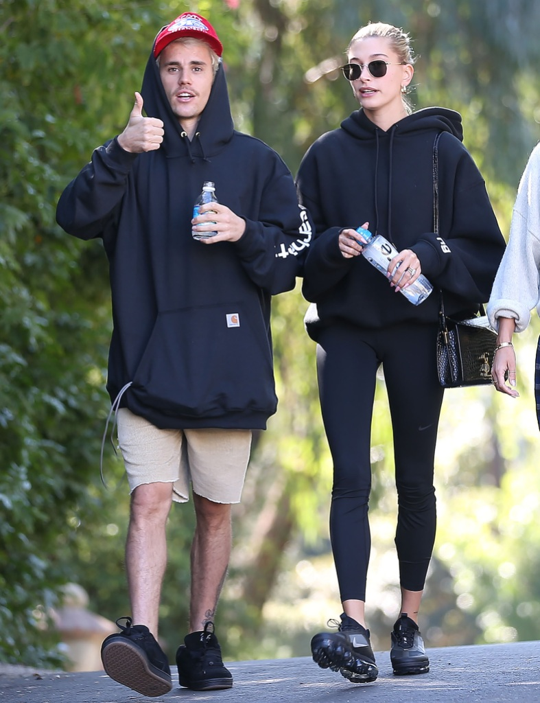 Justin Bieber and Hailey Bieber out and about, Los Angeles, USA - 12 Jan 2020