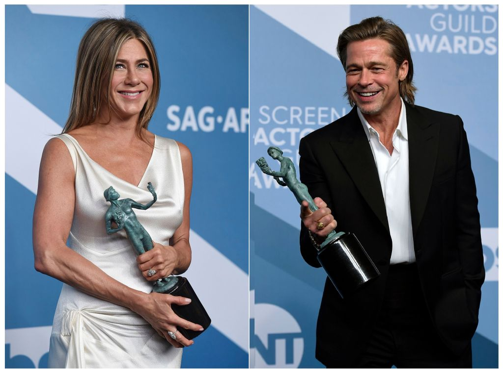 Jennifer Aniston and Brad PItt SAG Awards 2020 Hold Hands