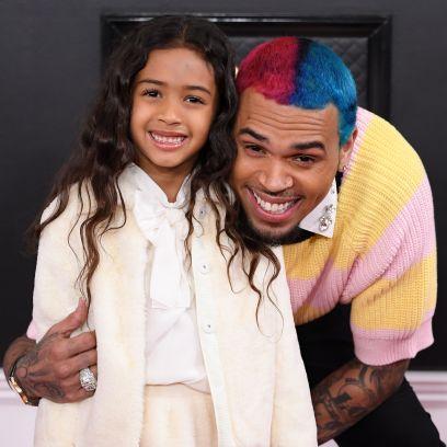 Chris Brown and Daughter Royalty at 2020 Grammys