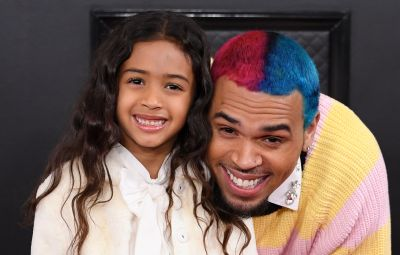 Chris Brown and Daughter Royalty at 2020 Grammys