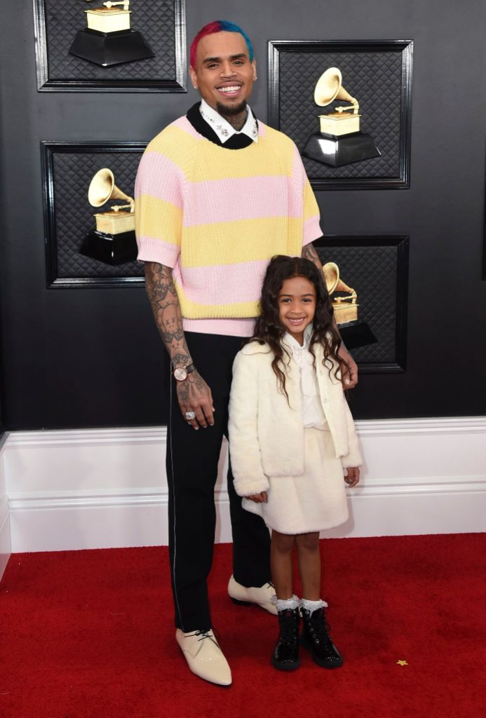 Chris Brown and Royalty 62nd Annual Grammy Awards - Arrivals, Los Angeles, USA - 26 Jan 2020