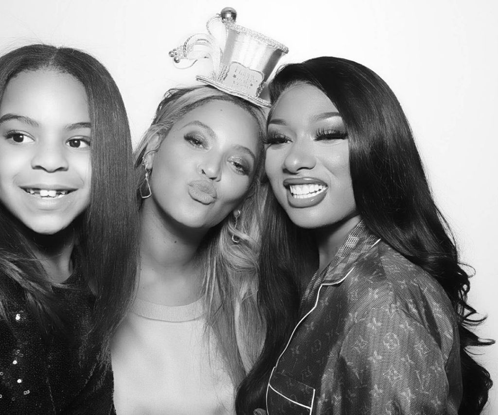 Megan Thee Stallion With Beyonce and Blue Ivy