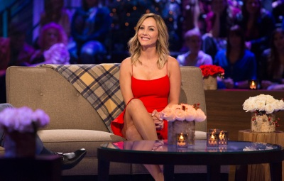 Bachelor Winter Games Star Clare Crawley Smiles in Red Dress