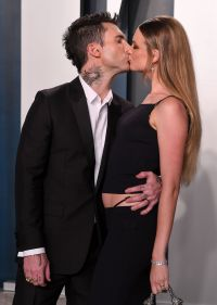 Adam Levine and Behati Prinsloo at Oscars Afterparty