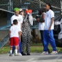 Amber Rose Attends Son's Baseball Game With Ex Wiz Khalifa and Her Baby Daddy Alexander