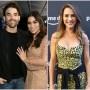 Bachelor Star Ashley Iaconetti Snuggles Husband Jared Haibon in Split Image With Bachelorette Andi Dorfman Wearing Cheetah Print Dress