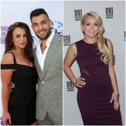 Britney and Jamie Lynn Spears and Sam Asghar