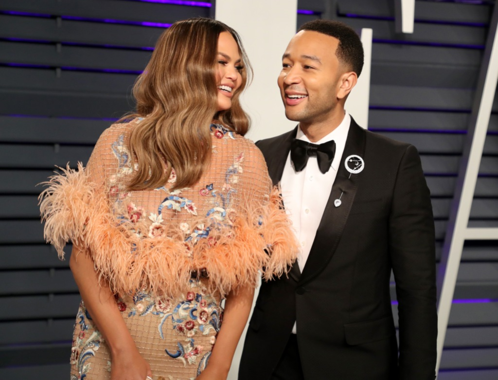 Chrissy Teigen and John Legend at the Vanity Fair Afterparty