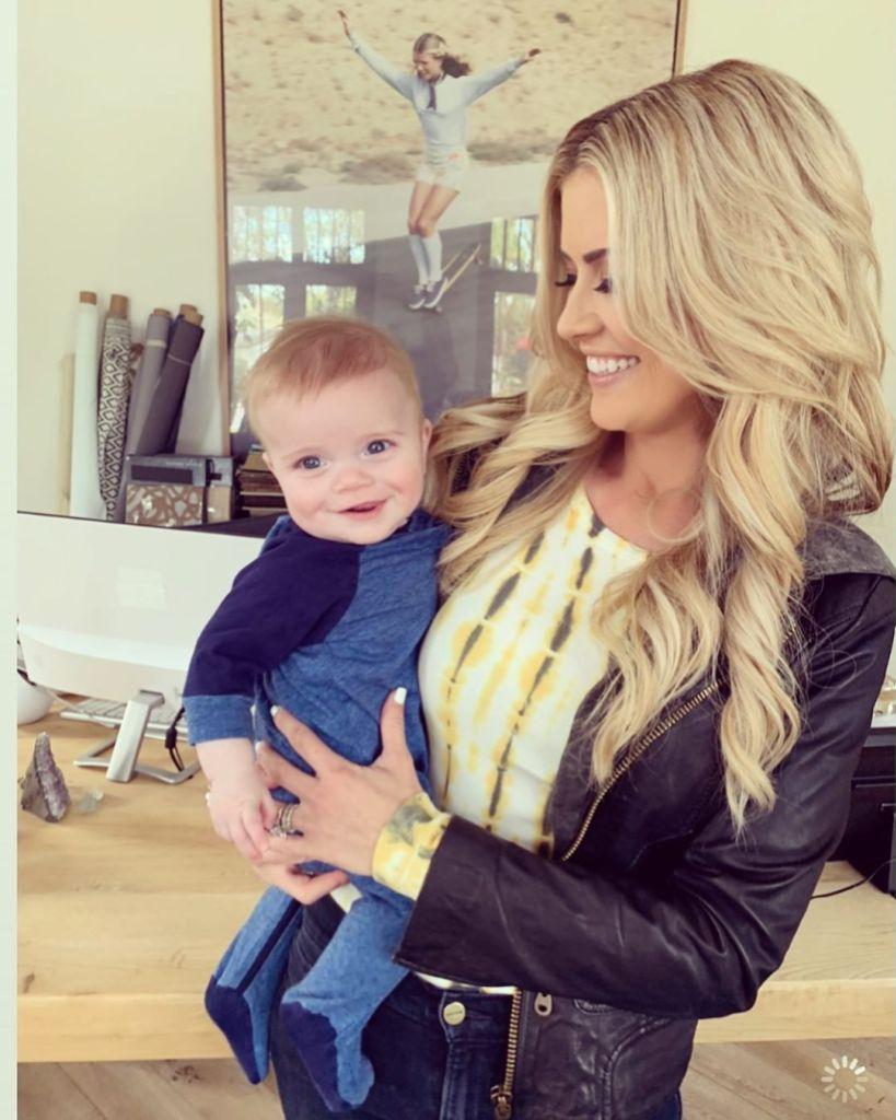 Christina Anstead and Baby Hudson