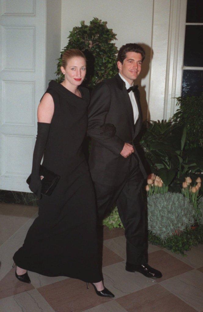 John F. Kennedy Jr. and his wife Carolyn