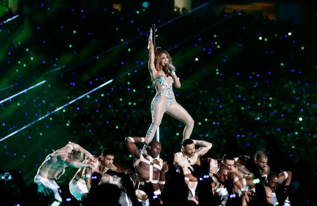Jennifer Lopez at the Super Bowl Show