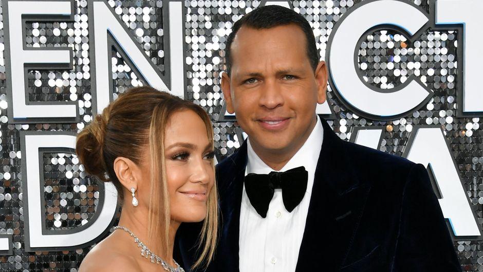 Jennifer Lopez and Alex Rodriguez at the Screen Actors Guild Awards