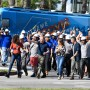 HGTV Extreme Makeover Home Edition Bus and Cast Includes Jesse Tyler Ferguson