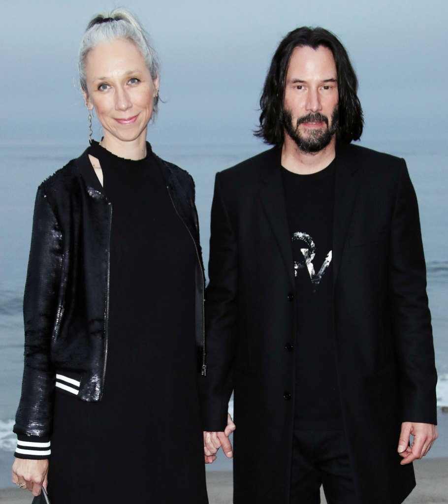 Alexandra Grant and Keanu Reeves at the Saint Laurent Show Keanu Reeves Mom Patrica Taylor Adores His Girlfriend Alexandra Grant
