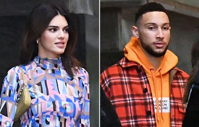 Kendall Jenner and boyfriend Ben Simmons leave their hotel together on the way to Super Bowl LIV in Miami