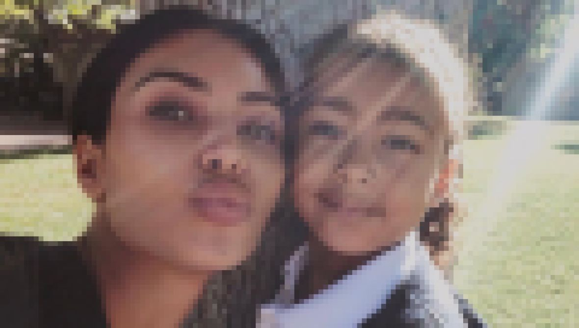 Kim Kardashian and North West Pose For a Selfie