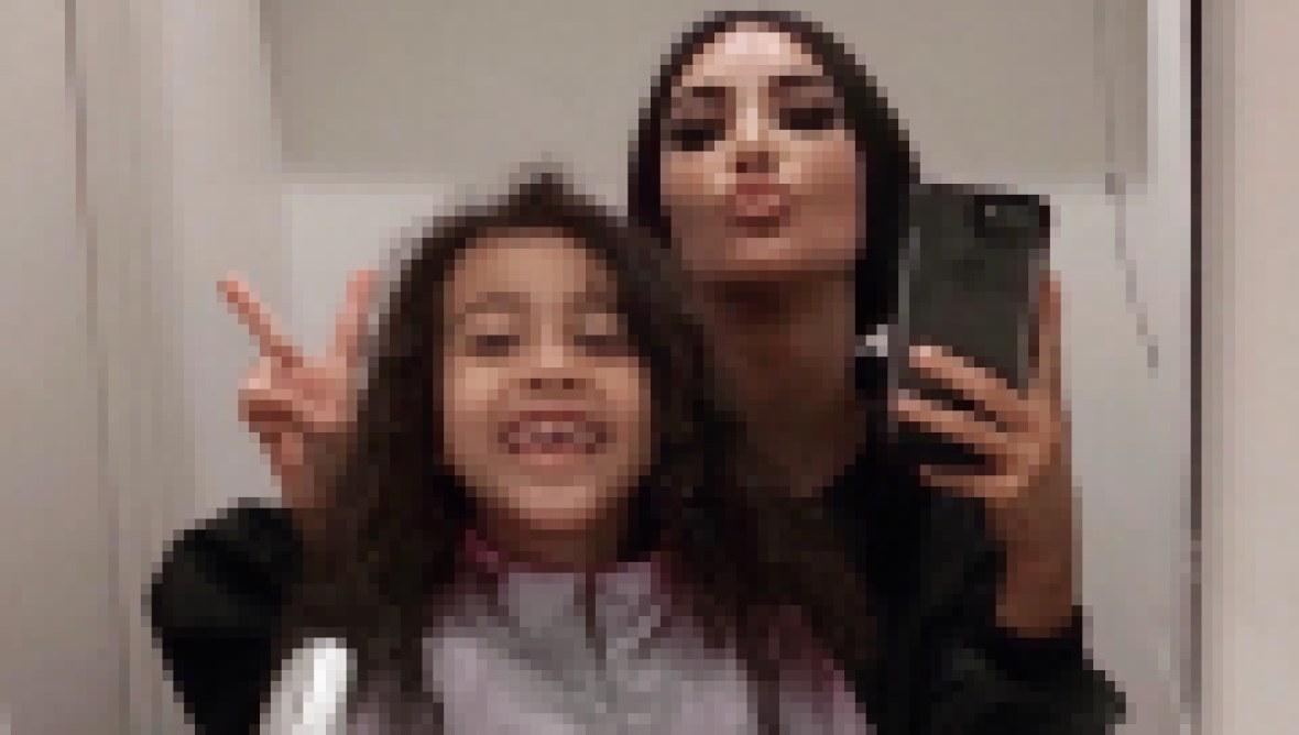 Kim Kardashian and North West Selfie