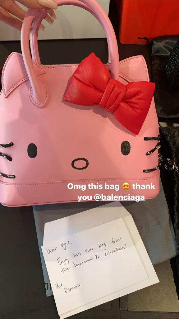 Kylie Jenner Hello Kitty Balenciaga Bag
