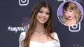 Inset Photo of Taylor Swift Over Photo of Loren Gray