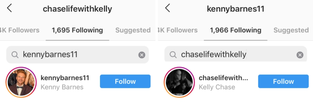 Love Is Blind Stars Kenny Barnes and Kelly Chase Follow Each Other on Instagram