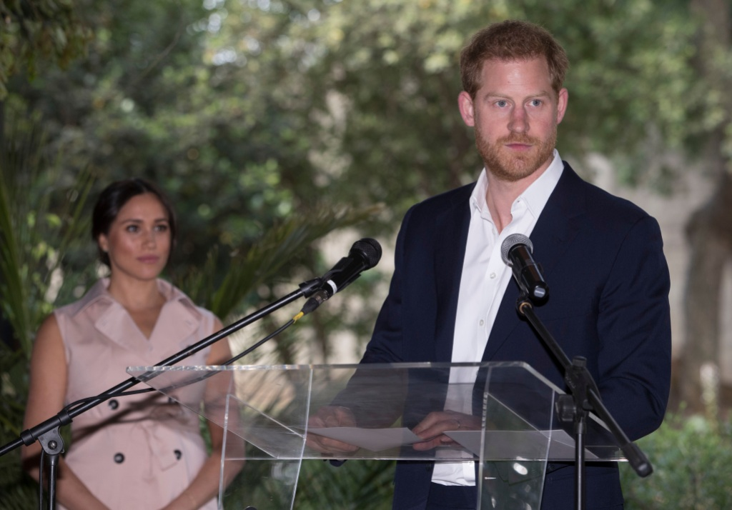 Prince Harry at the Podium With Meghan Markle