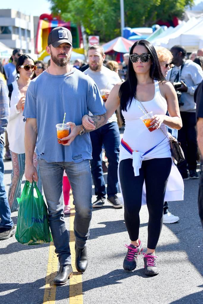Nikki Bella and Artem Chigvintsev Shopping