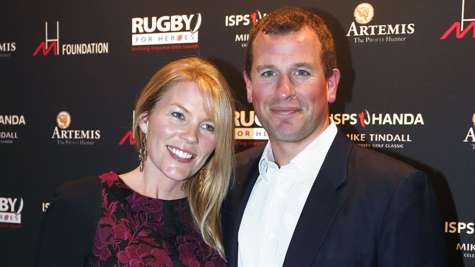 Peter Phillips and Autumn Smiling at an Event
