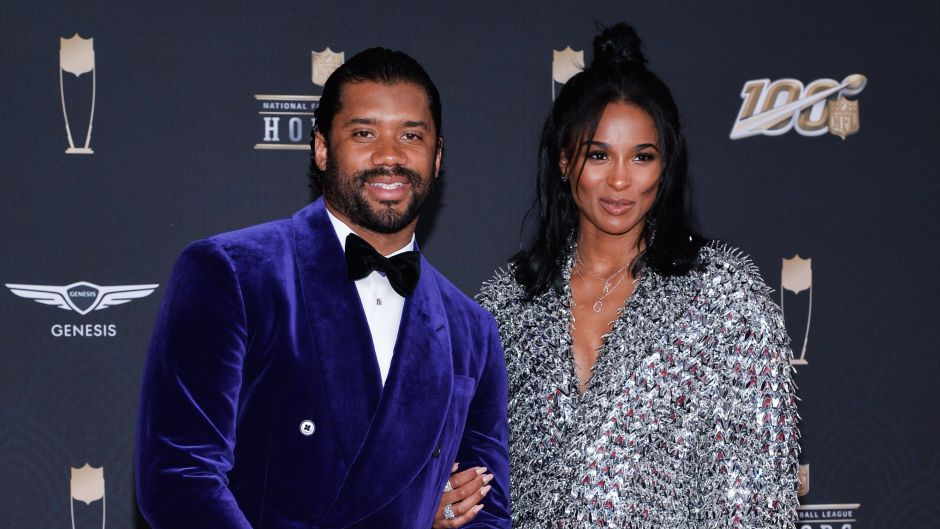Russell Wilson and Ciara at the Super Bowl LIV