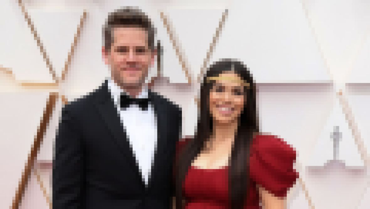 Ryan Piers and America Ferrera at the Oscars