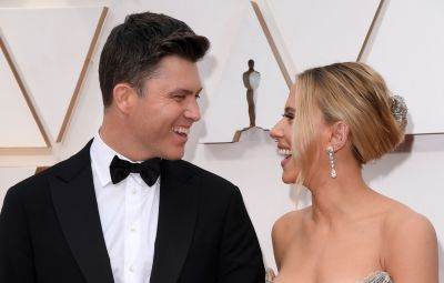 Scarlett Johansson and Colin Jost at the 2020 Oscars