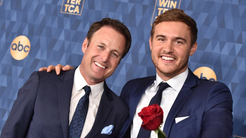 Peter Weber With Chris Harrison and Roses