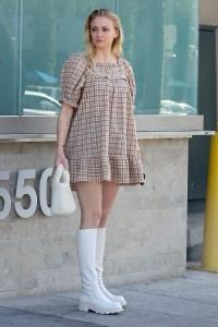 Sophie Turner Rocks Flowy Dress