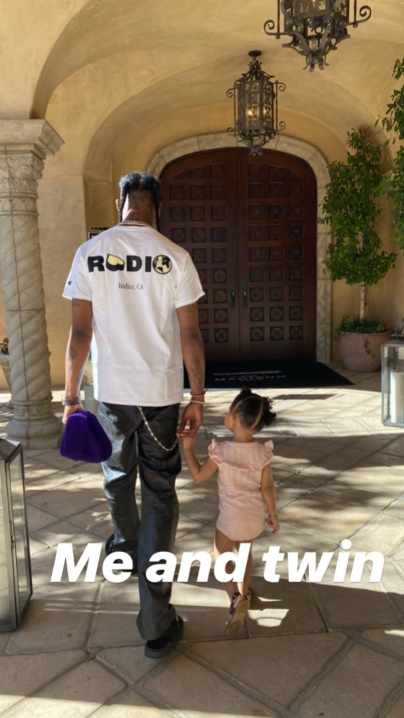 Travis Scott and Stormi Webster