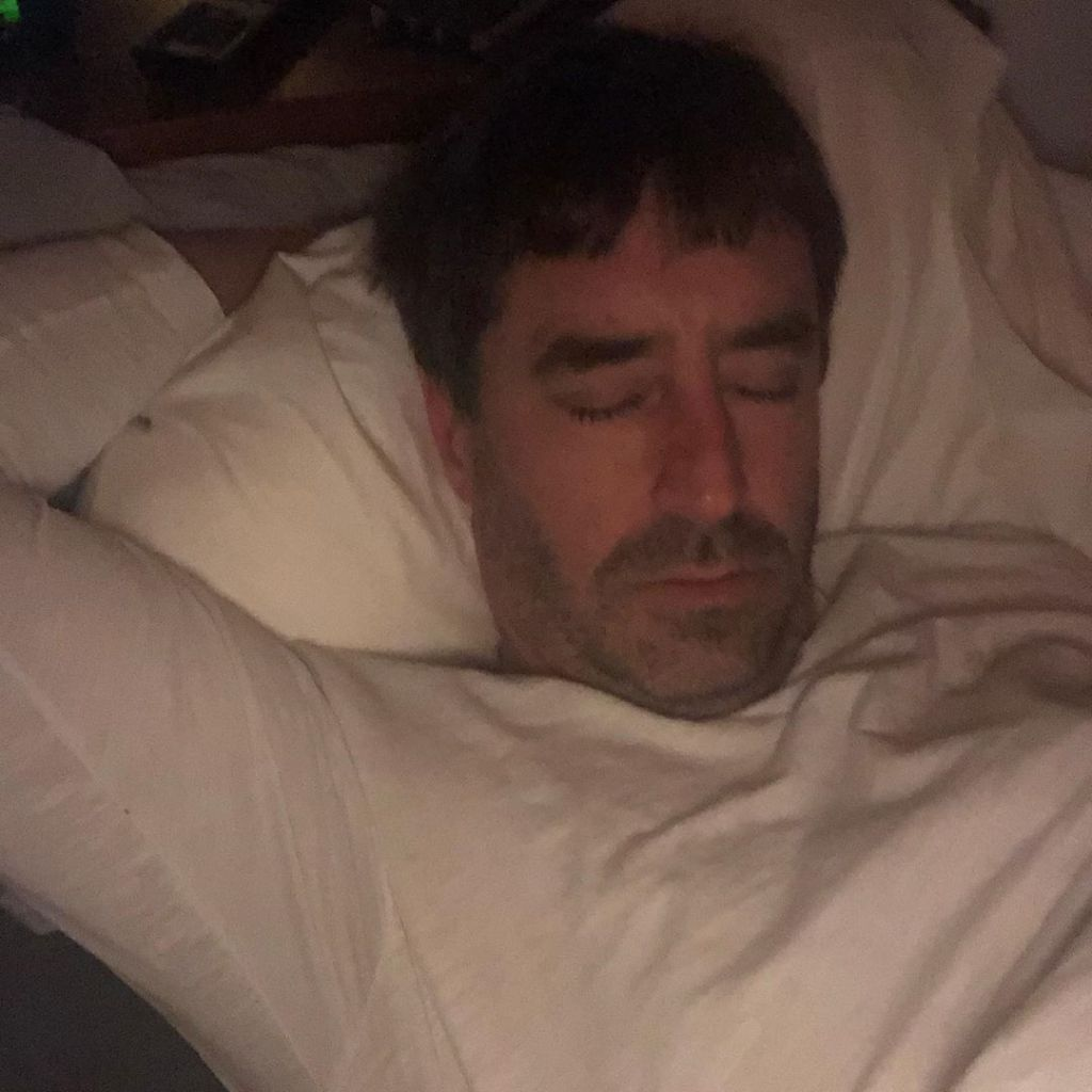Amy Schumer Husband Chris Fischer Sleeping
