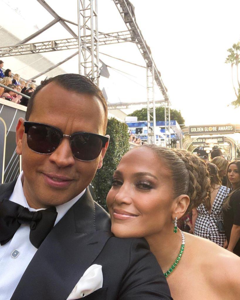 Alex Rodriguez and Jennifer Lopez Golden Globes Red Carpet