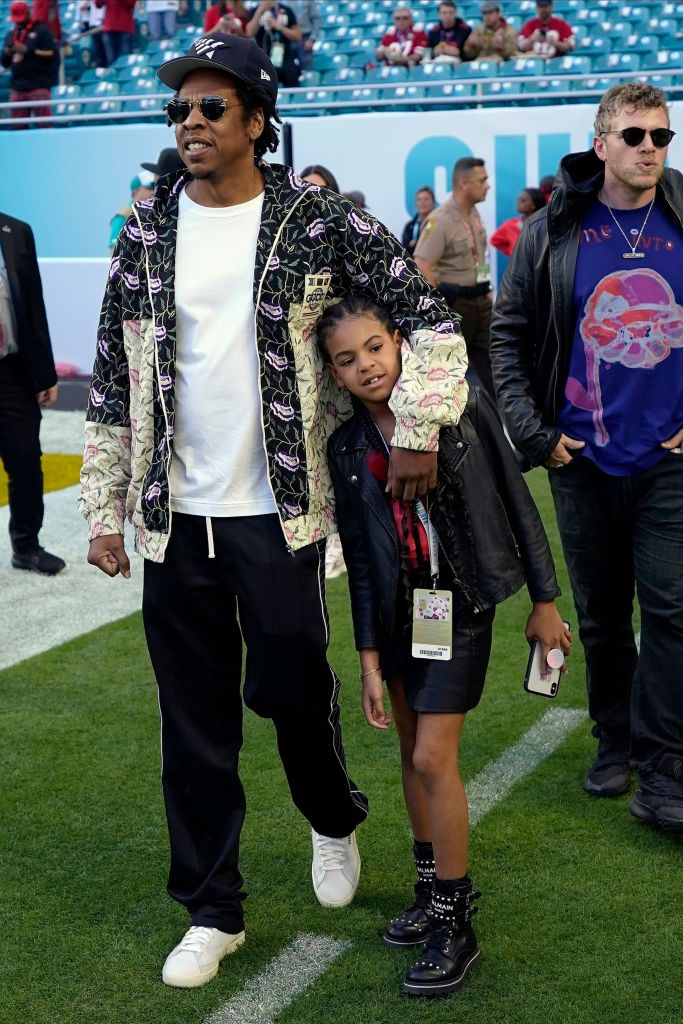 Celebs at Super Bowl LIV Jay-Z and Blue Ivy
