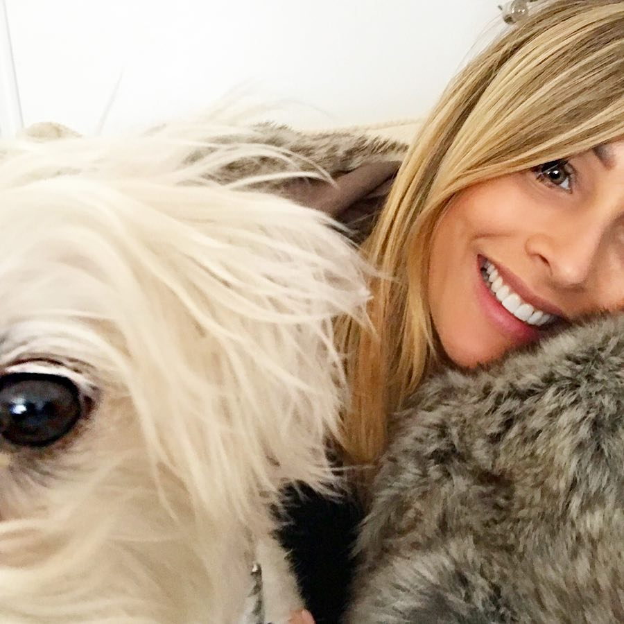 Bachelor Alum Clare Crawley Cuddles Her Dog