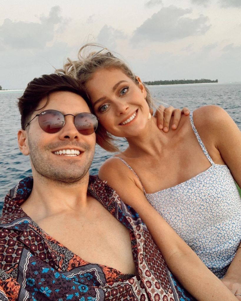 Dylan Barbour and Hannah Godwin Smile on Vacation Selfie in the Maldives