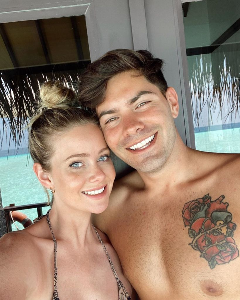 Bachelor in Paradise Stars Dylan Barbour and Hannah Godwin Cuddle Up While on Vacation in Maldives