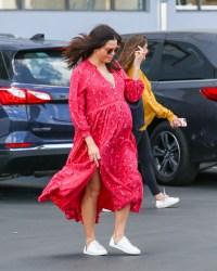 Jenna Dewan Flaunts Baby Bump in Pink Dress