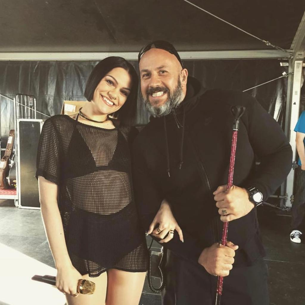 Jessie J and Late Bodyguard Dave Last Smile Together
