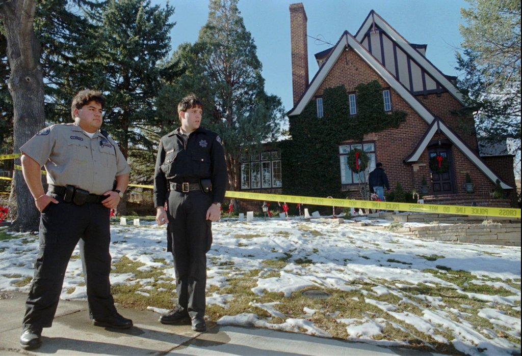 Outside the home in Boulder, Colo. in which 6-year-old JonBenet Ramsey was found dead on December 26
