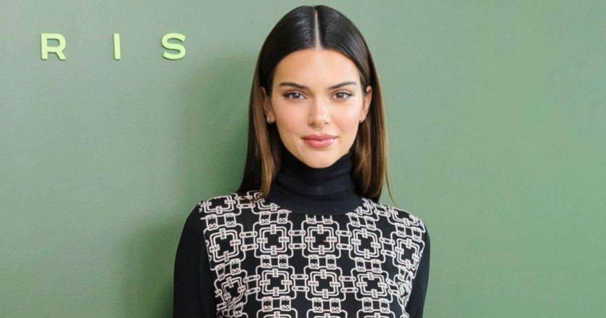 Kendall Jenner Shows Off Her Abs While Wearing Sis Kim Kardashian's Skims