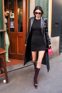 Kendall Jenner Little Black Dress Milan Fashion Week