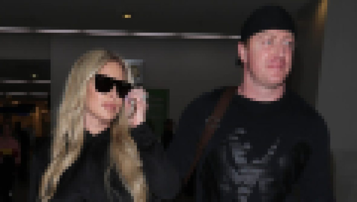 Kim Zolciak in Athleisure With Kroy Biermann at LAX