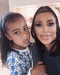 North West Steals Kim Kardashians Phone and Posts on Snapchat