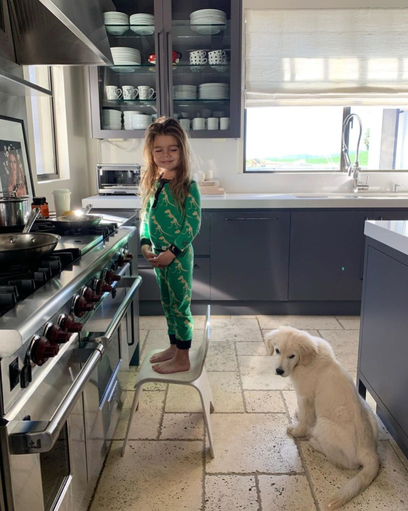 Kourtney Kardashian Shares Photo With Reign Disick and Puppy Cubs